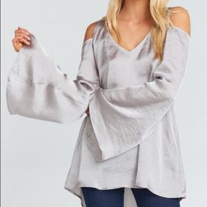 "Show Me Your Mumu | Boho Silver ""Shoulder Boo"" Top"